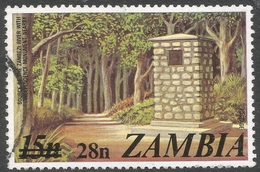 Zambia. 1979 Surcharges. 28n On 15n Used. SG 282 - Zambia (1965-...)