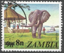 Zambia. 1979 Surcharges. 8n On 9n Used. SG 279 - Zambia (1965-...)