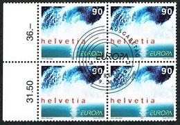 BLOC DE 4 TIMBRES OBLITERES 1er/J Le 9.5.2001 C/DES TIMBRES SUISSES Nr:1022. Y&TELLIER Nr:1682. MICHEL Nr:1757.