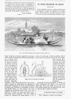 LE BATEAU-VELOCIPEDE De  BOSTON  (ETATS-UNIS)  1882 - Non Classés