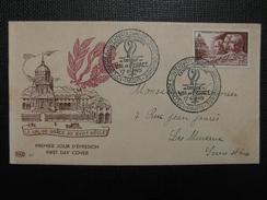 1951 - YT N° 898 MEDECINE MILITAIRE Sur ENVELOPPE ILLUSTRÉE PREMIER JOUR FDC Cachet Special CONGRES SANTÉ PARIS - ....-1949