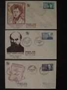 1951 - YT N° 908 909 910 BAUDELAIRE VERLAINE RIMBAUD Sur ENVELOPPE ILLUSTRÉE PREMIER JOUR FDC Cachet Special PARIS METZ - ....-1949