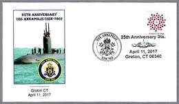 25 Años Submarino Nuclear USS ANNAPOLIS (SSN-760). Groton CT 2017