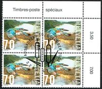 BLOC DE 4 TIMBRES OBLITERES 1er/J Le 19.11.2002 C/DES TIMBRES SUISSES Nr:1071. Y&TELLIER Nr:1742. MICHEL Nr:1817.