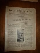 1917 LSELV :Contribution USA Au Progrès Universel (Biard D'Aunet);Principes Fondamentaux Du Combat Aérien (Oscar Ribel) - Aviation