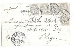 CPA..   DE LYON   POUR SMICHOV ..CACHET D'ARRIVEE ..1902..TBE SCAN - Tchécoslovaquie