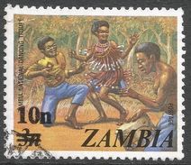 Zambia. 1979 Surcharges. 10n On 3n Used. SG 282 - Zambia (1965-...)