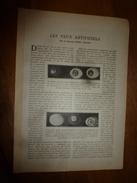 1917 LSELV :Les YEUX ARTIFICIELS  (par Le Docteur Mary Dauro) - Autres Collections