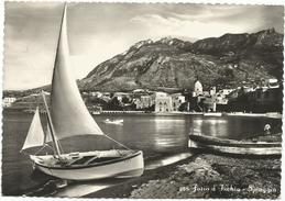 Y3053 Forio D'Ischia (Napoli) - Panorama Della Spiaggia - Beach Plage Strand Playa - Barche Boats Bateaux / Viaggiata - Other Cities