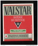 Etiquette De Bière Surfine  -   Valstar   -  SEB  à Sèvres  (92) - Cerveza