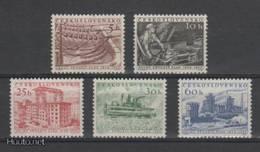 (S1701) CZECHOSLOVAKIA, 1956 (2nd Five Year Plan). Complete Set. Mi ## 949-953. MNH**