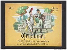 Etiquette De Vin De Table Blanc De Blancs - Crustasec  - Thème Couple  -  Delcroix à Flines Les Râches  (59) - Couples