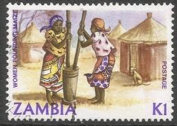 Zambia. 1981 Native Crafts. 1k Used. SG 350 - Zambia (1965-...)
