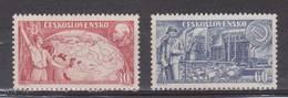 (S1705) CZECHOSLOVAKIA, 1957 (40th Anniversary Of Russian Revolution). Complete Set. Mi ## 1046-1047. MNH**