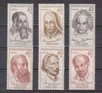 (S1706) CZECHOSLOVAKIA, 1970 (UNESCO. Famous Persons). Complete Set. Mi ## 1922-1927. MNH**