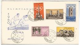 ITALIA ROMA FDC JUEGOS OLIMPICOS DE 1960 DEPORTE