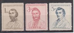 (S1707) CZECHOSLOVAKIA, 1948 (Centenary Of 1848 Insurrection Against Hungary). Complete Set. Mi ## 546-548. MNH**