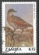 Zambia. 1990 Birds (2nd Series). 15k Used. SG 635 - Zambia (1965-...)