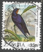 Zambia. 1989 Surcharges. 70n On 35n Used. SG 587 - Zambia (1965-...)