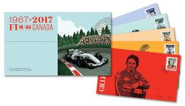 CANADA 2017,  OFDC, CANADA FORMULA 1, GRAND PRIX DU CANADA : Stewart,Villeneuve, Senna, Shumacher, Halmilton - First Day Covers