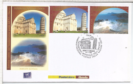 ITALIA RICCIONE FDC PATRIMONIO UNESCO PISA ARQUITECTURA ISLAS EOLIAS
