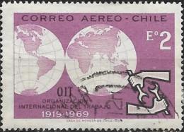CHILE 1969 50th Anniv Of ILO - 2e Hemispheres And ILO Emblem FU - Chile
