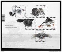 CANADA 2016  BIRDS Of CANADA  Ouvenir Sheet  Of 5 Stamps   See Description