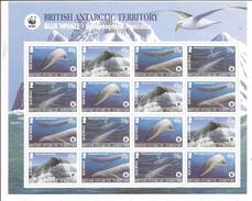 2003 British Antarctic Territory WWF Blue Whales Miniature Sheet Of 16 (4 Sets)  MNH - Ungebraucht