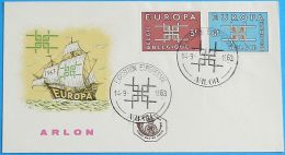 BELGIEN 1963 MI-NR. 1320/21 CEPT FDC - Europa-CEPT