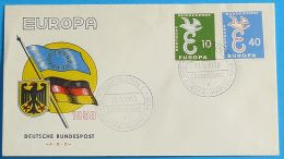 DEUTSCHLAND 1958 MI-NR. 295/96 CEPT FDC - Europa-CEPT
