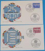 DEUTSCHLAND 1984 MI-NR. 1210/11 CEPT FDC - Europa-CEPT