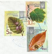 Ukraina , Trees Sheet , Used Air Mail Kiev 2015