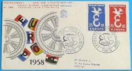 FRANKREICH 1958 MI-NR. 1210/11 CEPT FDC - Europa-CEPT