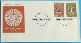 GRIECHENLAND 1966 MI-NR. 919/20 CEPT FDC - Europa-CEPT