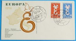 ITALIEN 1958 MI-NR. 1016/17 CEPT FDC - 1958