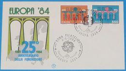 ITALIEN 1984 MI-NR. 1886/87 CEPT FDC - Europa-CEPT