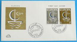 LUXEMBURG 1966 MI-NR. 733/34 CEPT FDC - Europa-CEPT
