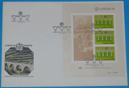 MADEIRA 1984 MI-NR. Block 5 CEPT FDC - Europa-CEPT