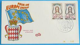 MONACO 1963 MI-NR. 742/43 CEPT FDC - Europa-CEPT