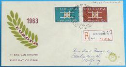 NIEDERLANDE 1963 MI-NR. 806/07 CEPT FDC - Europa-CEPT