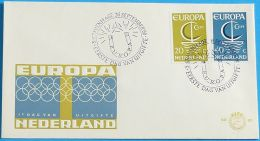 NIEDERLANDE 1966 MI-NR. 864/65 CEPT FDC - Europa-CEPT