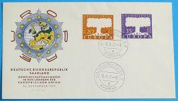 SAAR SARRE SAARLAND 1957 MI-NR. 402/03 CEPT FDC - 1957