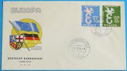 SAAR SARRE SAARLAND 1958 MI-NR. 439/40 CEPT FDC - Europa-CEPT
