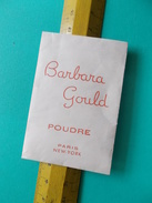 BARBARA GOULD VINTAGE POUDRE BALTIMORE SACHET SCELLE échantillon Gratuit Très Vieux Et Peu Courant - Cartes Parfumées