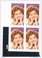USA 2016 #5060 Legends Of Hollywood Shirley Temple 4 X 0.49c  MNH** - Etats-Unis