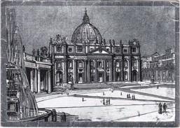 Cartolina - Postcard - ROMA - BASILICA E PIAZZA S. PIETRO - Places & Squares