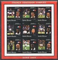 RR109 !!! IMPERFORATE 2001 GUINE-BISSAU SPORT FOOTBALL EURO 2000 FRANCE 1SH MNH