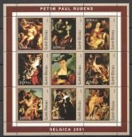 RR182 2001 GUINE-BISSAU ART PETER PAUL RUBENS 1KB MNH