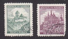 Bohemia And Moravia, Scott #28-29, Used, Castles, Issued 1939 - Bohemia & Moravia