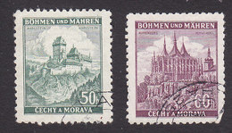 Bohemia And Moravia, Scott #28-29, Used, Castles, Issued 1939